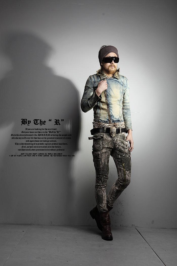 wl工厂韩国代购时尚男装休闲牛仔夹克水洗潮范儿个性